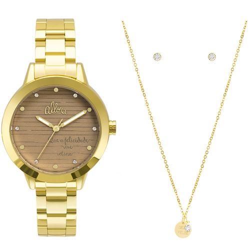 089cf6bf134 Kit Relógio Allora Feminino Serena AL2036FLV K4M - Dourado AL2036FLV ...