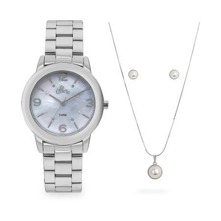 Kit Relógio Allora Feminino Encanto da Sereia AL2035FGD/K3A - Prata