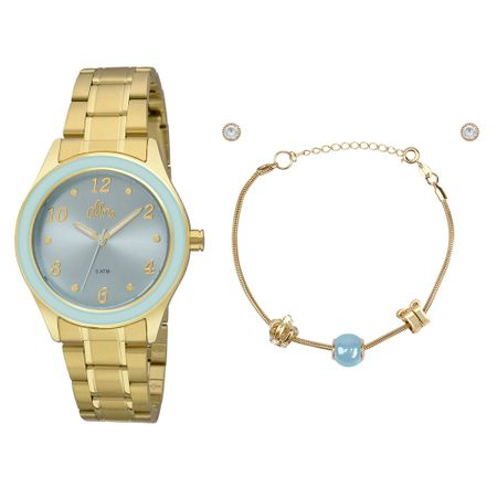 Kit Relógio Allora Feminino AL2035FID/K4A