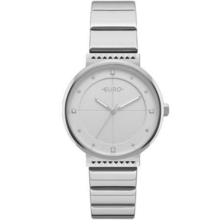 Relógio Euro Feminino Spike Slim Prata - EU2035YOC/3K