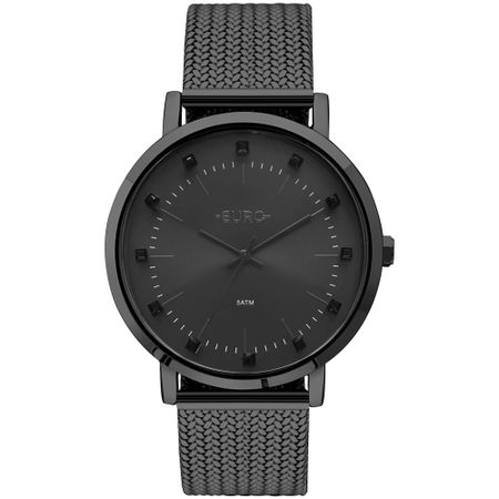 Relógio Euro Feminino Spike Illusion Preto - EU2035YMY/4P