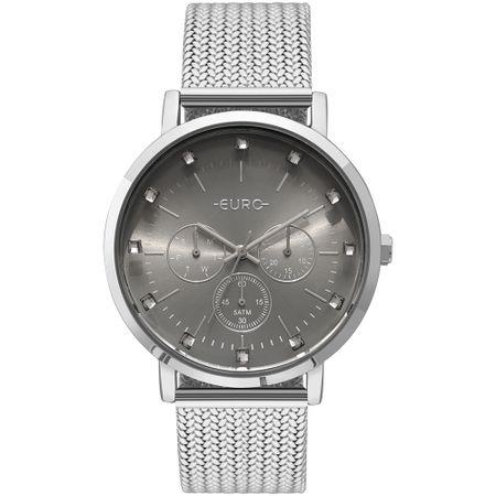Relógio Euro Feminino Spike Illusion Prata - EUVD75AB/3K