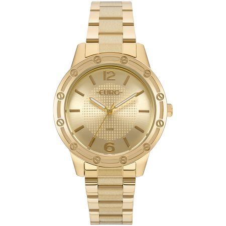 Relógio Euro Feminino Texturas Dourado - EU2035YND/4D