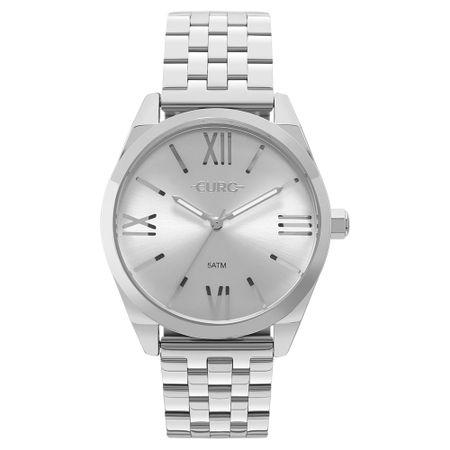 Relógio Euro Feminino Recortes Prata - EU2035YNH/3K
