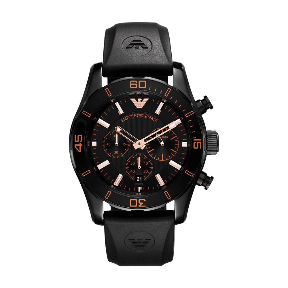 563ae85caaba3 Emporio Armani. Relógio Emporio Armani Masculino Preto - HAR5946 N