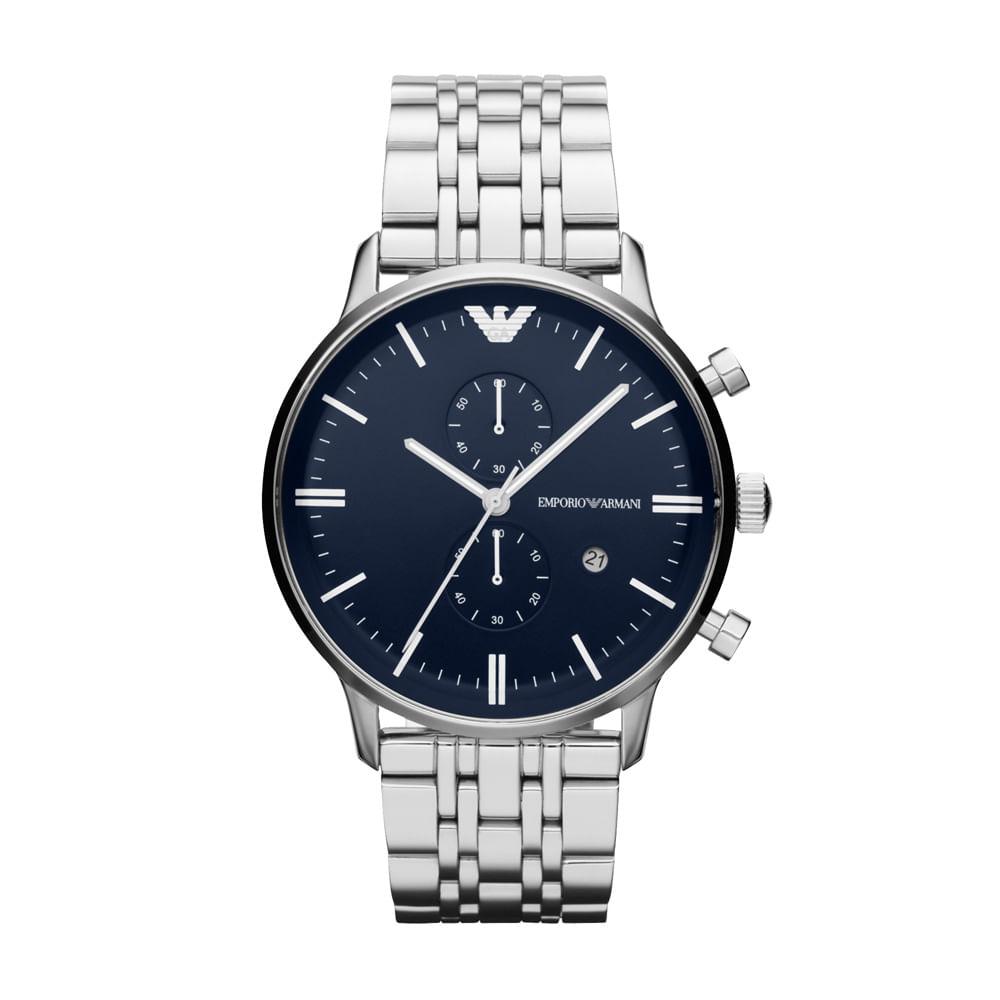 ecaee3f60ae Relógio Emporio Armani Masculino Prata - HAR1648 Z - timecenter