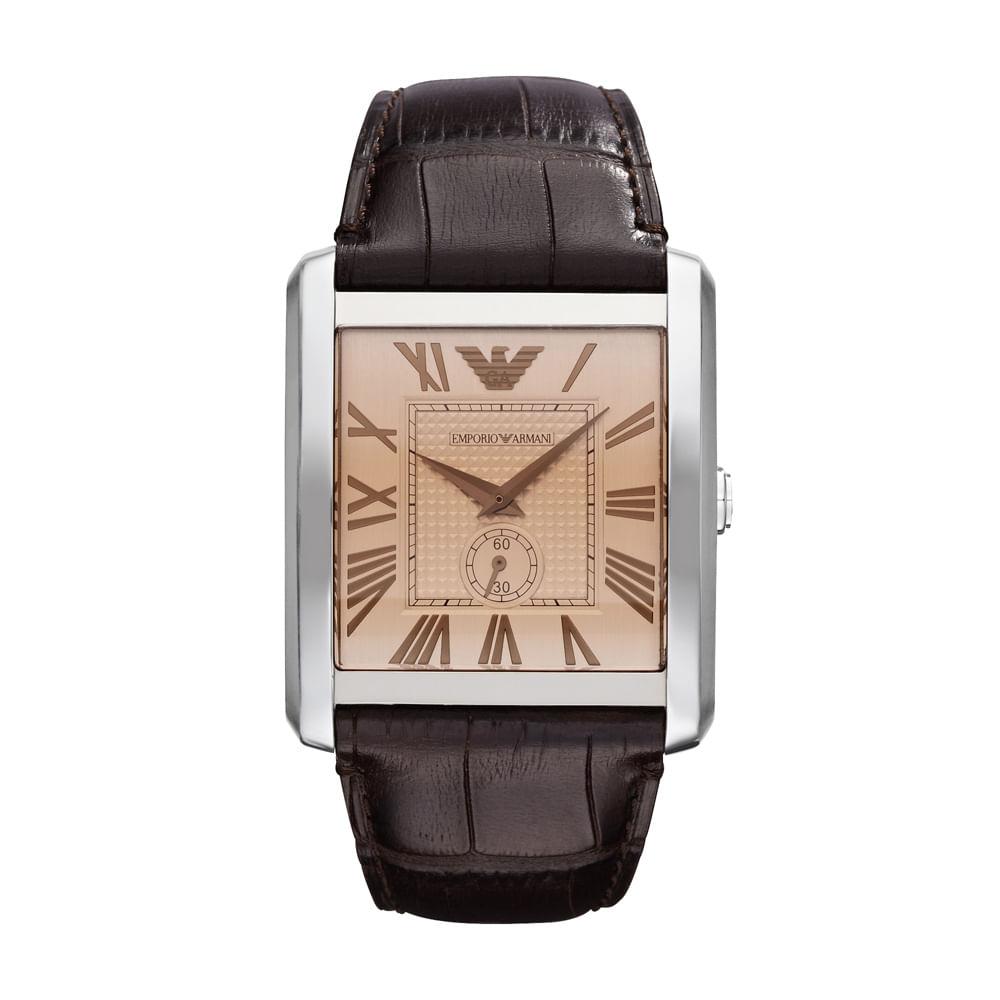 2bb1a8e5f28 Relógio Emporio Armani Masculino Marrom - HAR1641 Z - Tempo de Black ...