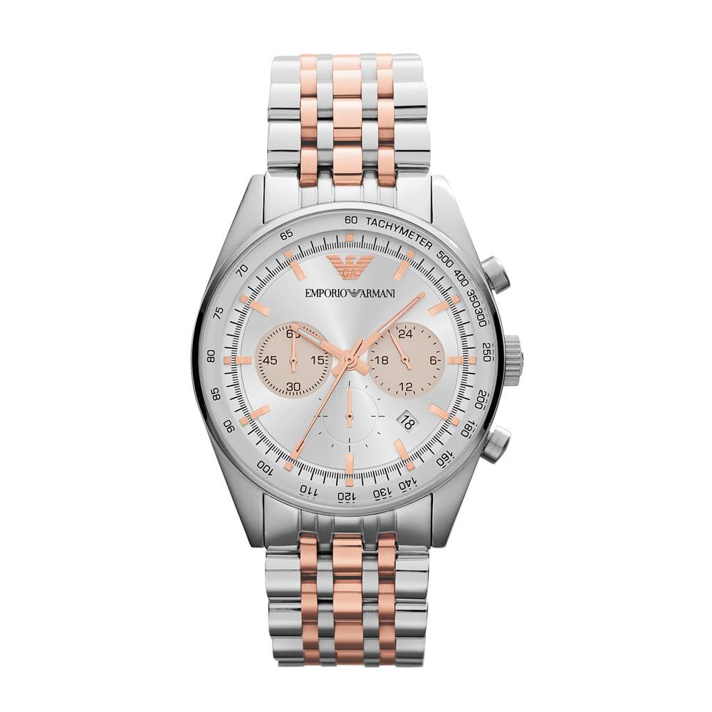 Relógio Emporio Armani Masculino Prata e Rose Gold - HAR5999 Z ... e287073600