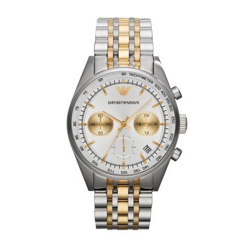eb547ac3889 Relógio Emporio Armani Masculino Prata e Dourado - HAR6116 Z - timecenter