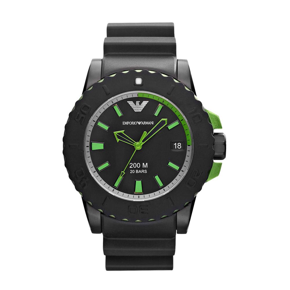 1e2618b523a Relógio Emporio Armani Masculino Preto - HAR6102 Z - timecenter