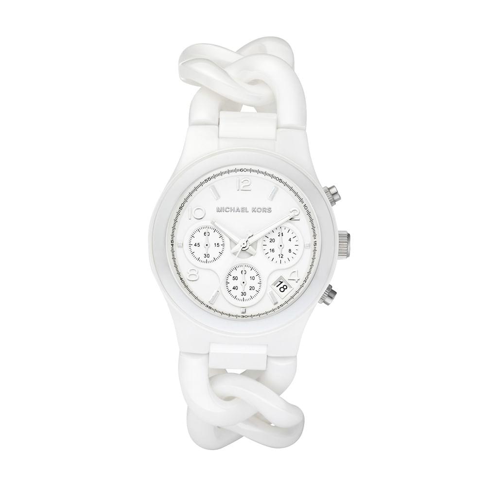aa7ad78b8 Relógio Michael Kors Feminino Branco - OMK5387/Z - timecenter