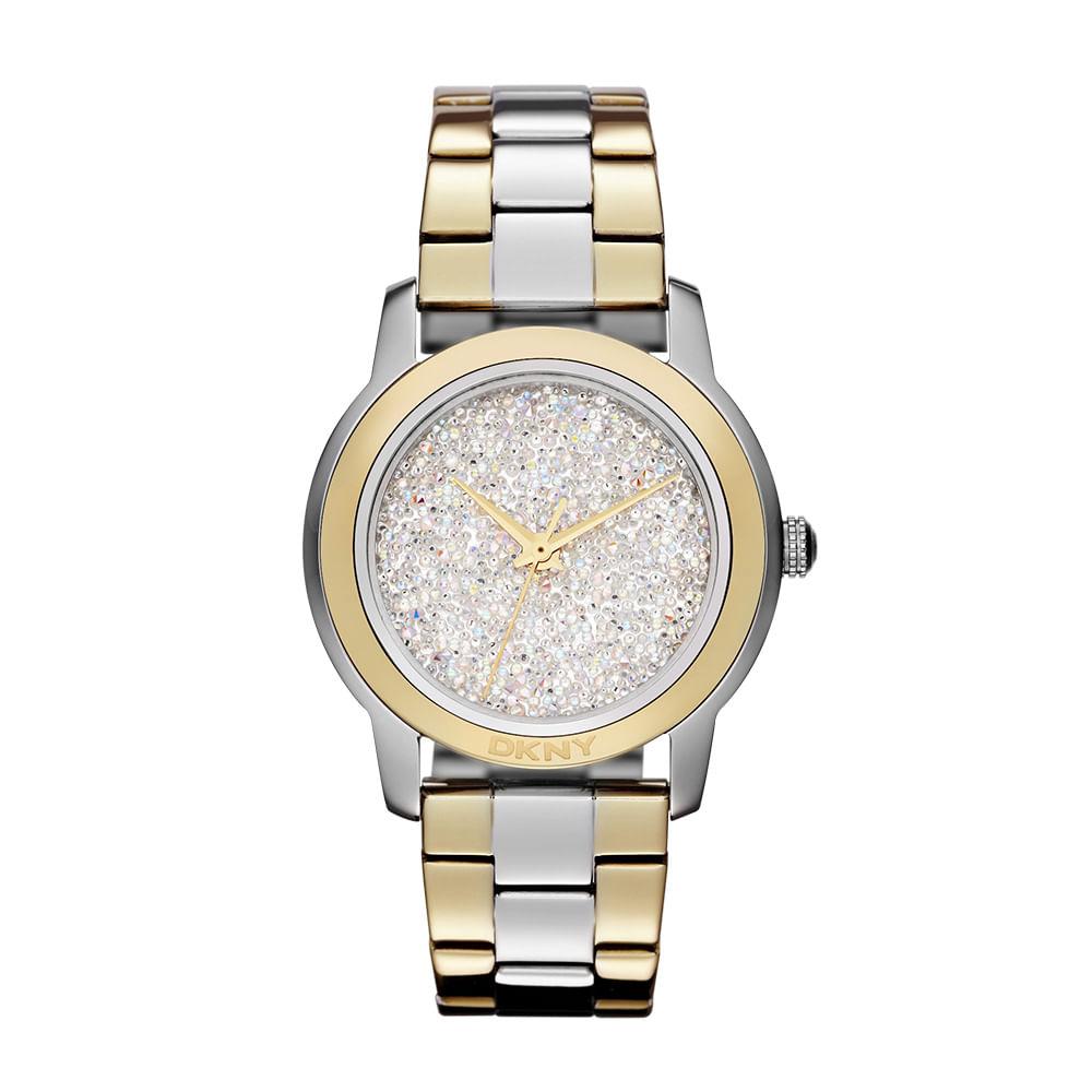 36a3b8d00 Relógio DKNY Feminino Prata e Dourado - GNY8777 Z - timecenter