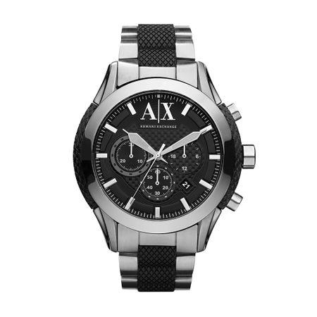 Relógio Armani Exchange Masculino Analógico Prata, Preto UAX1214/Z