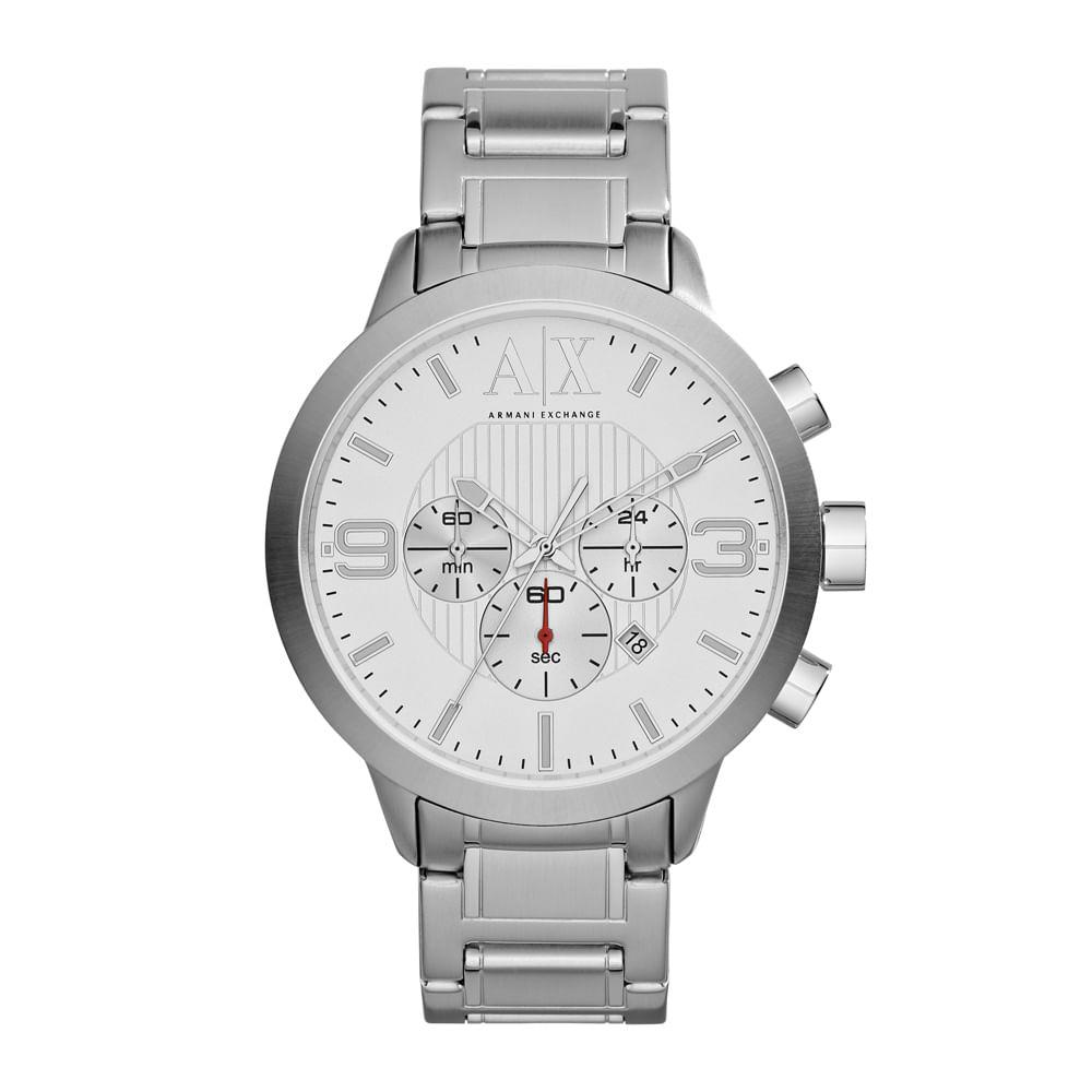 91e28222ef6 Relógio Armani Exchange Masculino Prata - UAX1278 Z - timecenter