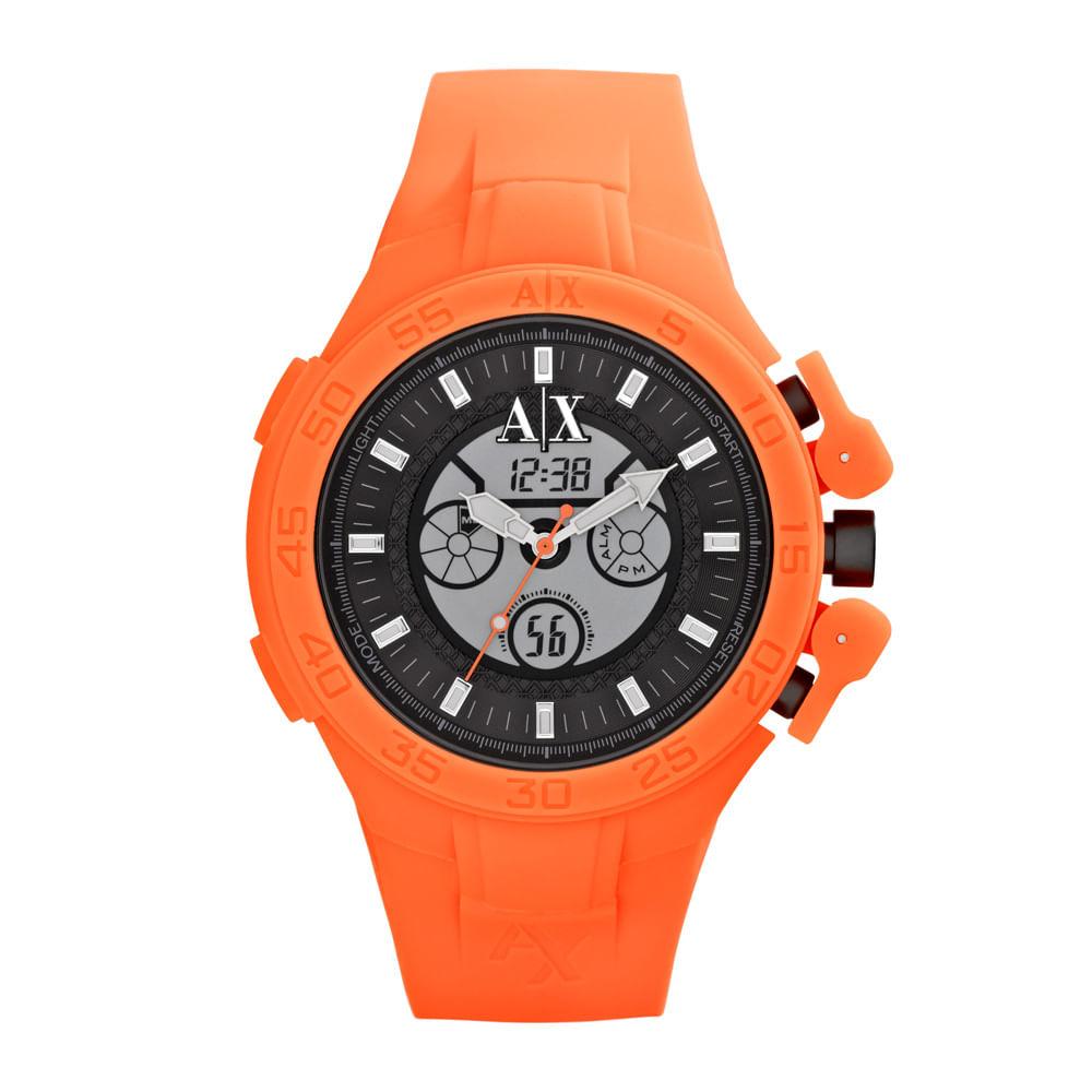 d48e0d456ed Relógio Armani Exchange Masculino Laranja - UAX1286 Z - Tempo de ...
