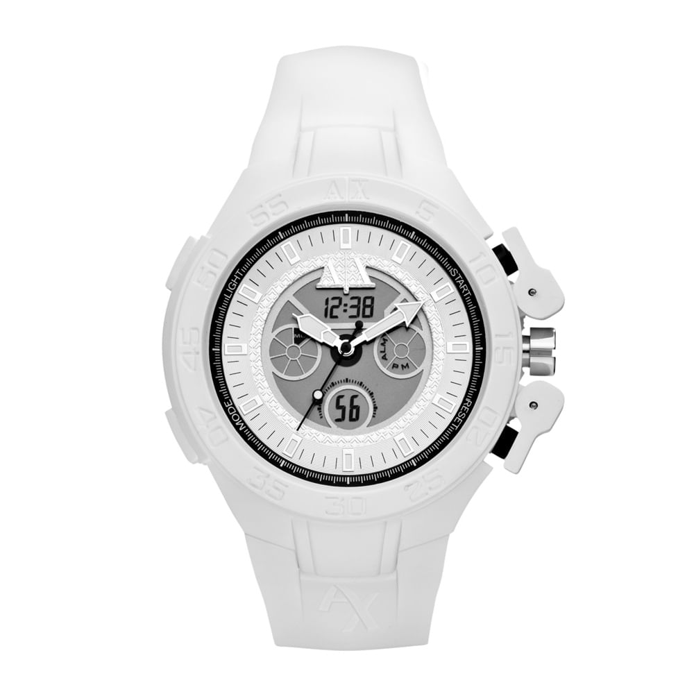 c099e86bf33 Relógio Armani Exchange Masculino Branco - UAX1280 Z - timecenter