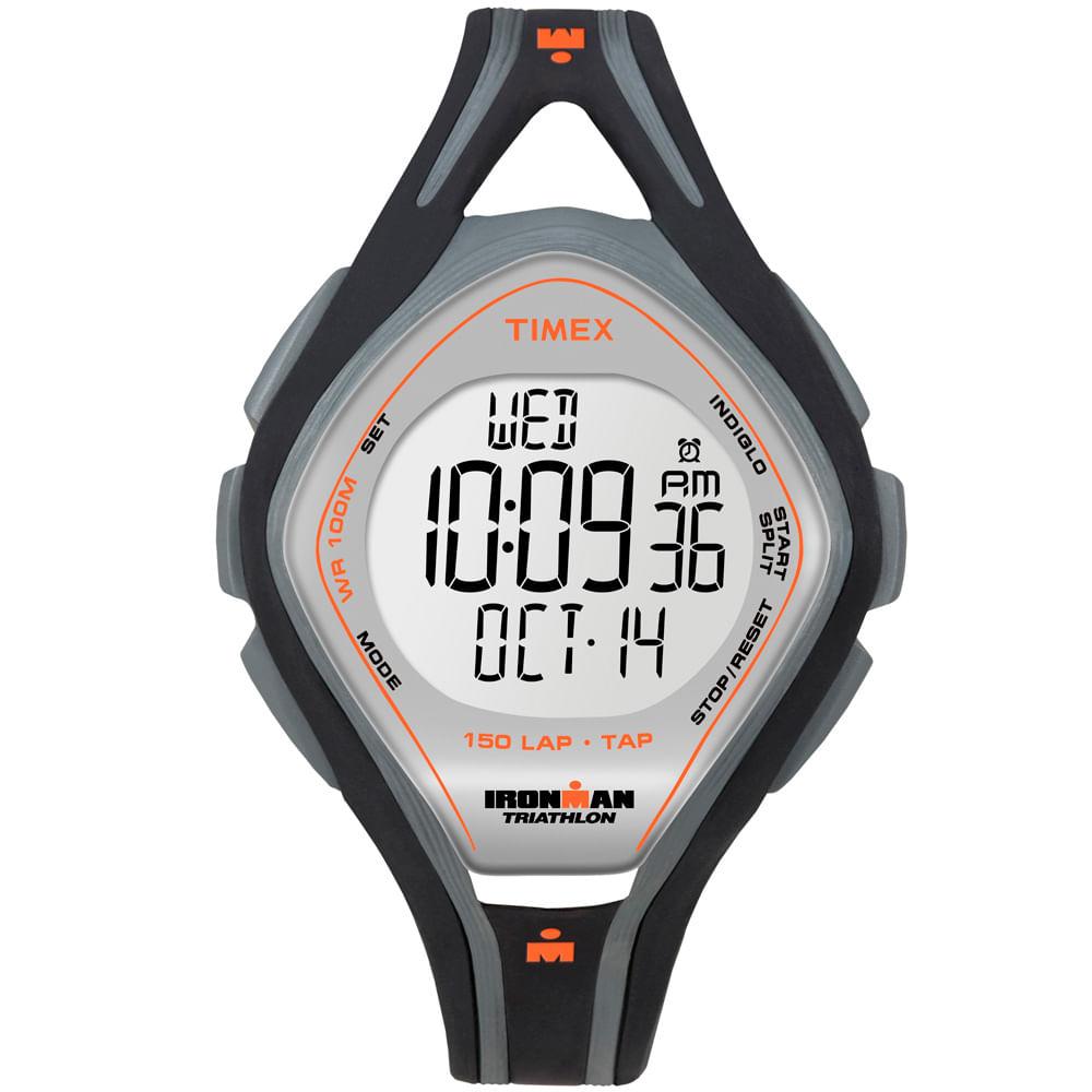 138c4dbc76d Relógio Timex Feminino Ironman TAP Sleek 150-Lap T5K255SU KTI Preto ...