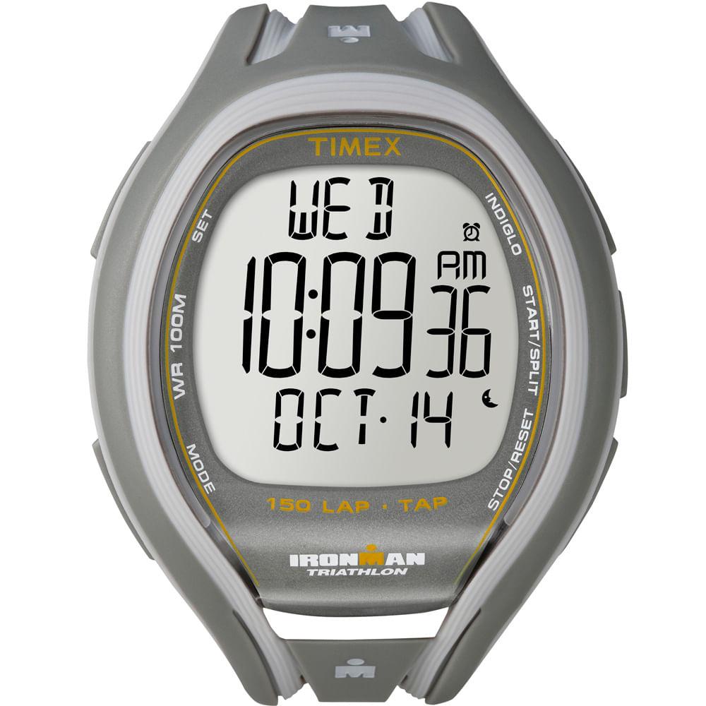 be3056d2505 Relógio Timex Feminino Ironman TAP Sleek 150-Lap T5K507SU KTI Branco ...