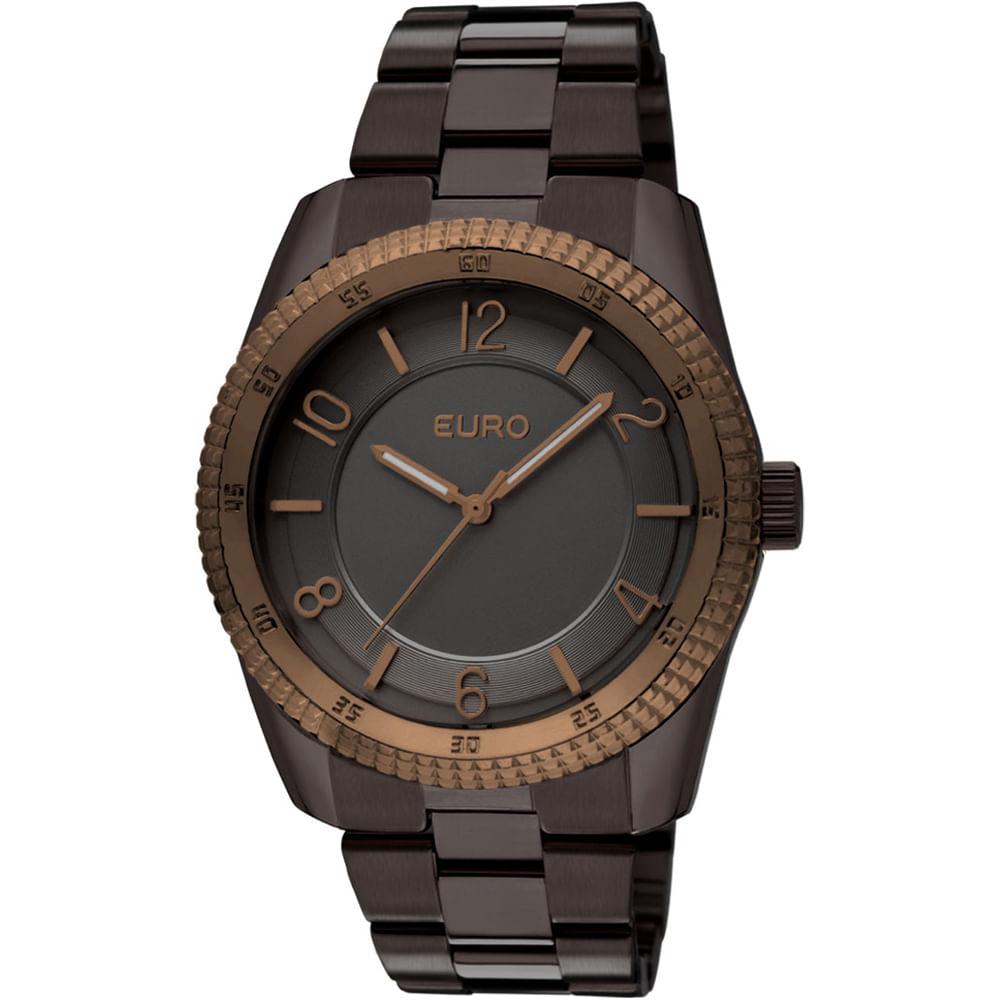 bb2eecc4fd0 Relógio Euro Feminino Analógico Santarém EU2036QP 3M - Chumbo ...