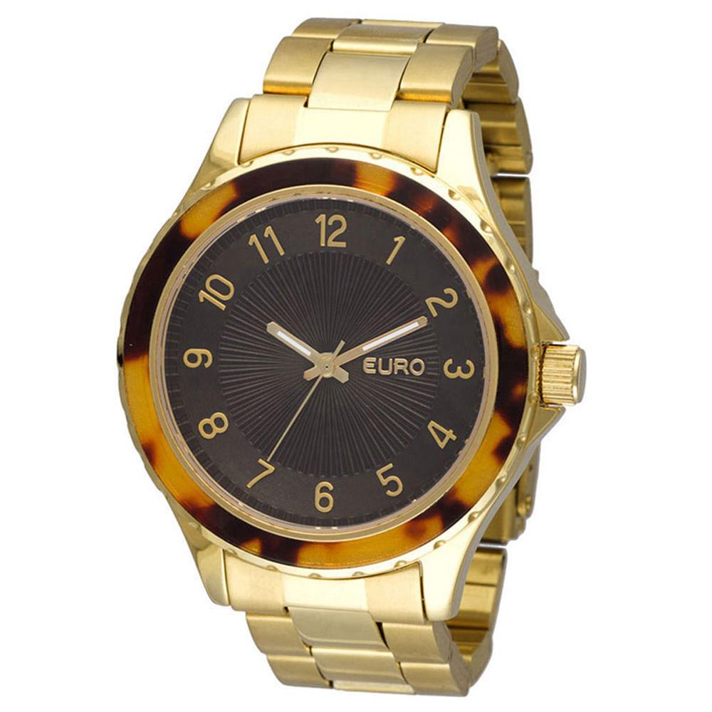 93af932e32e Relógio Euro Feminino Analógico Capri EU2035PY 4M - Dourado - timecenter