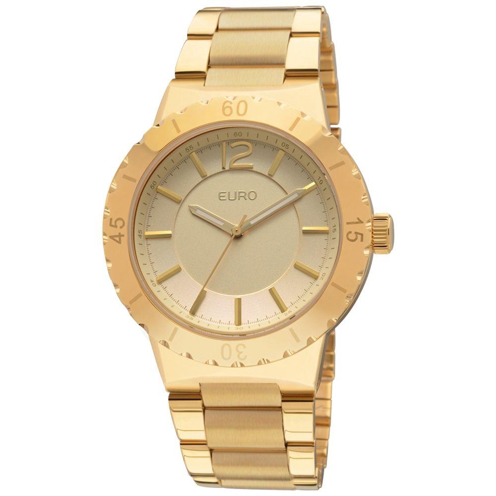 63e4a17a7af Relógio Euro Feminino Analógico Mazir EU2036AJA 4D - Dourada ...