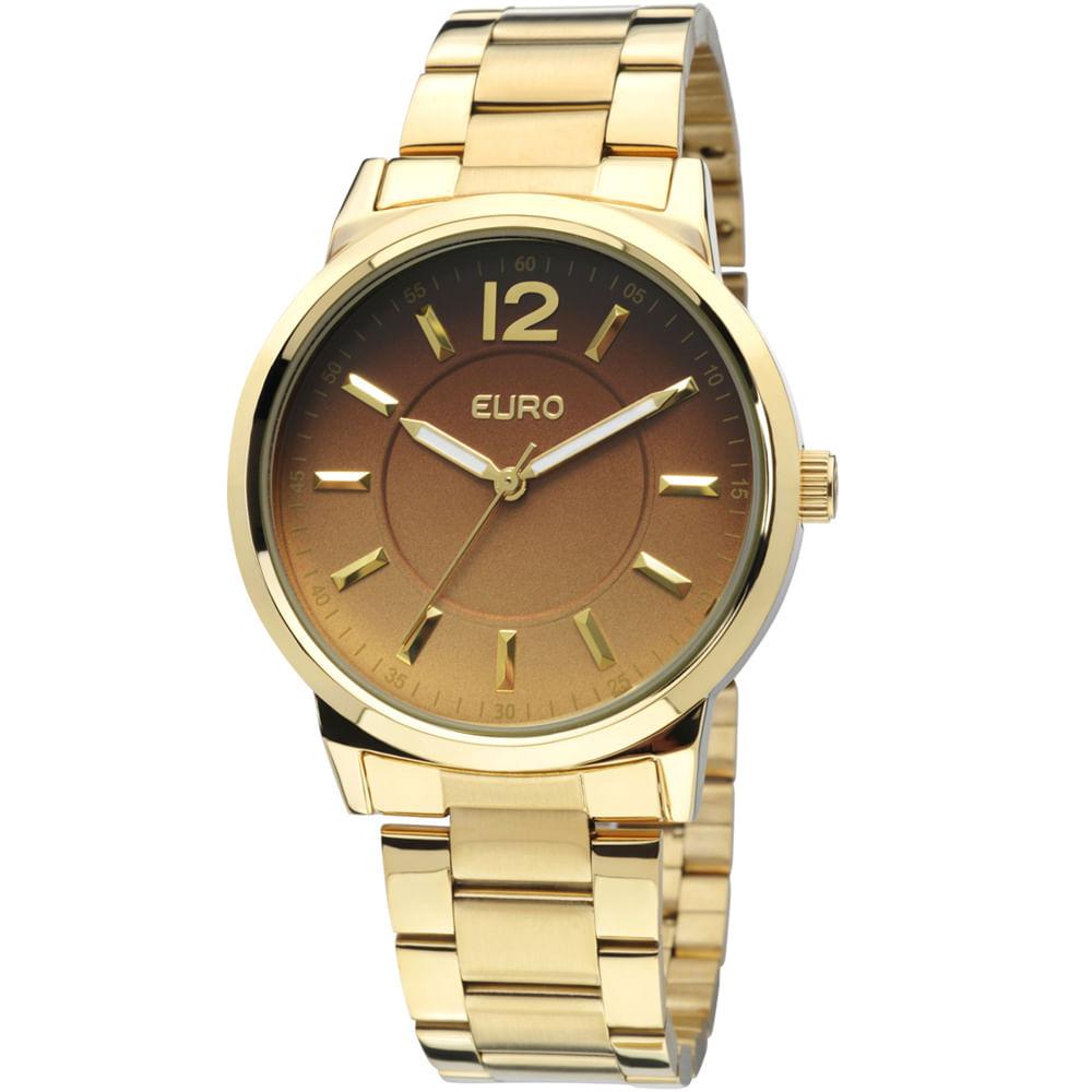 828e5dedc0f Relógio Euro Feminino Analógico Maribor EU2035LQW 4C - Dourado ...