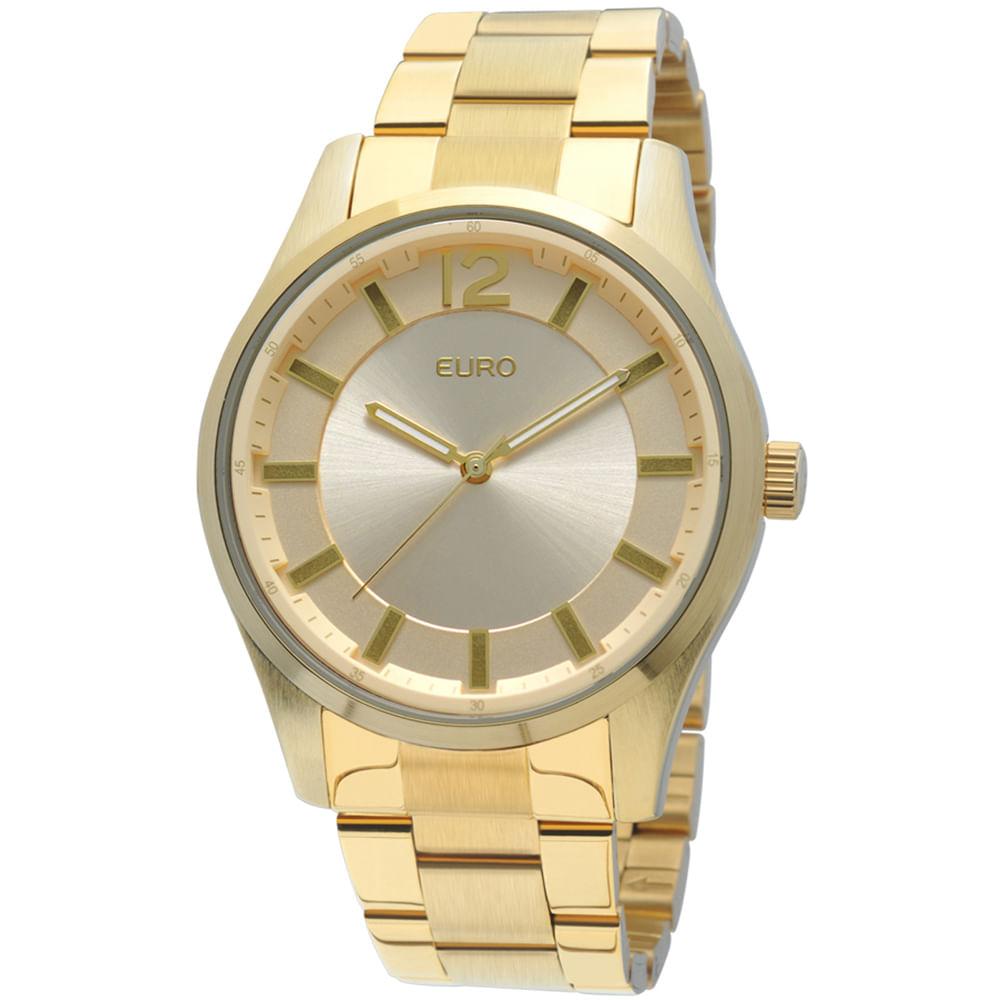 adf889a3a6d Relógio Euro Feminino Analógico Nevers EU2036AIT 4D - Dourado ...