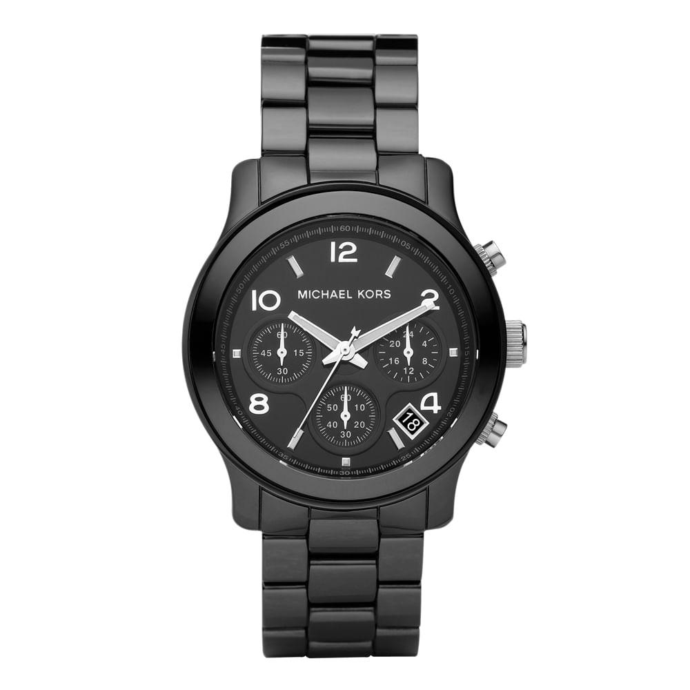 dec823da0fb60 Relógio Michael Kors Feminino Preto - OMK5162 Z - timecenter