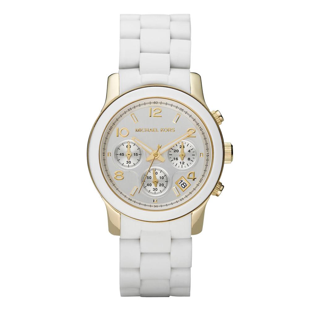 Relógio Michael Kors Feminino Branco - OMK5145 Z - timecenter b76f3c6d2c
