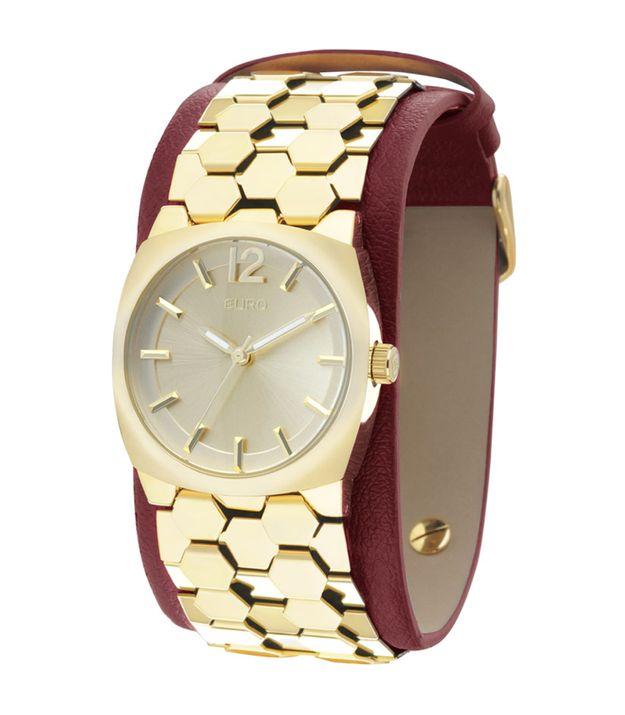 d78ed3322e Dourado Euro - Relógio Couro Ecológico – euro
