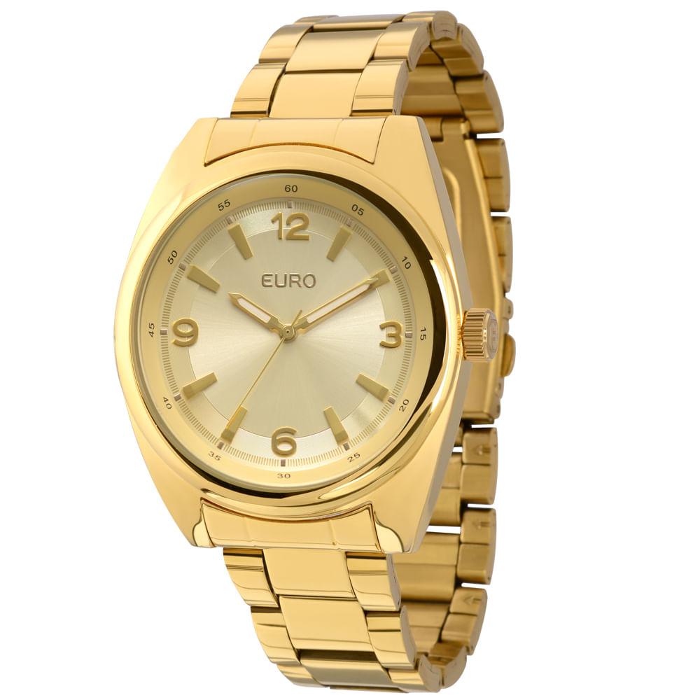 caae12d5726 Relógio Euro Feminino Analógico Srem EU2035LXL 4D-Dourado - timecenter