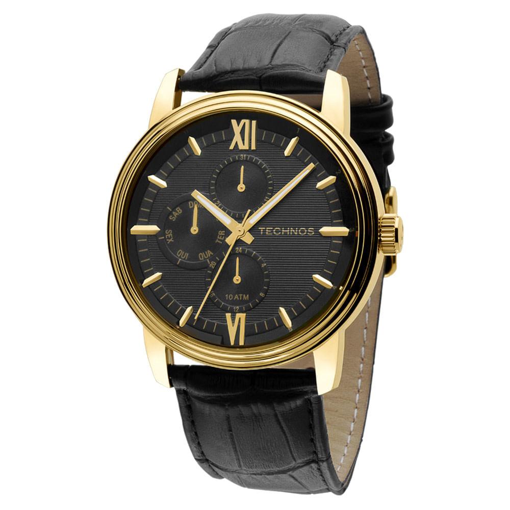 Relógio Technos Masculino Preto - 6P27CV 4P - timecenter c90a7940c0