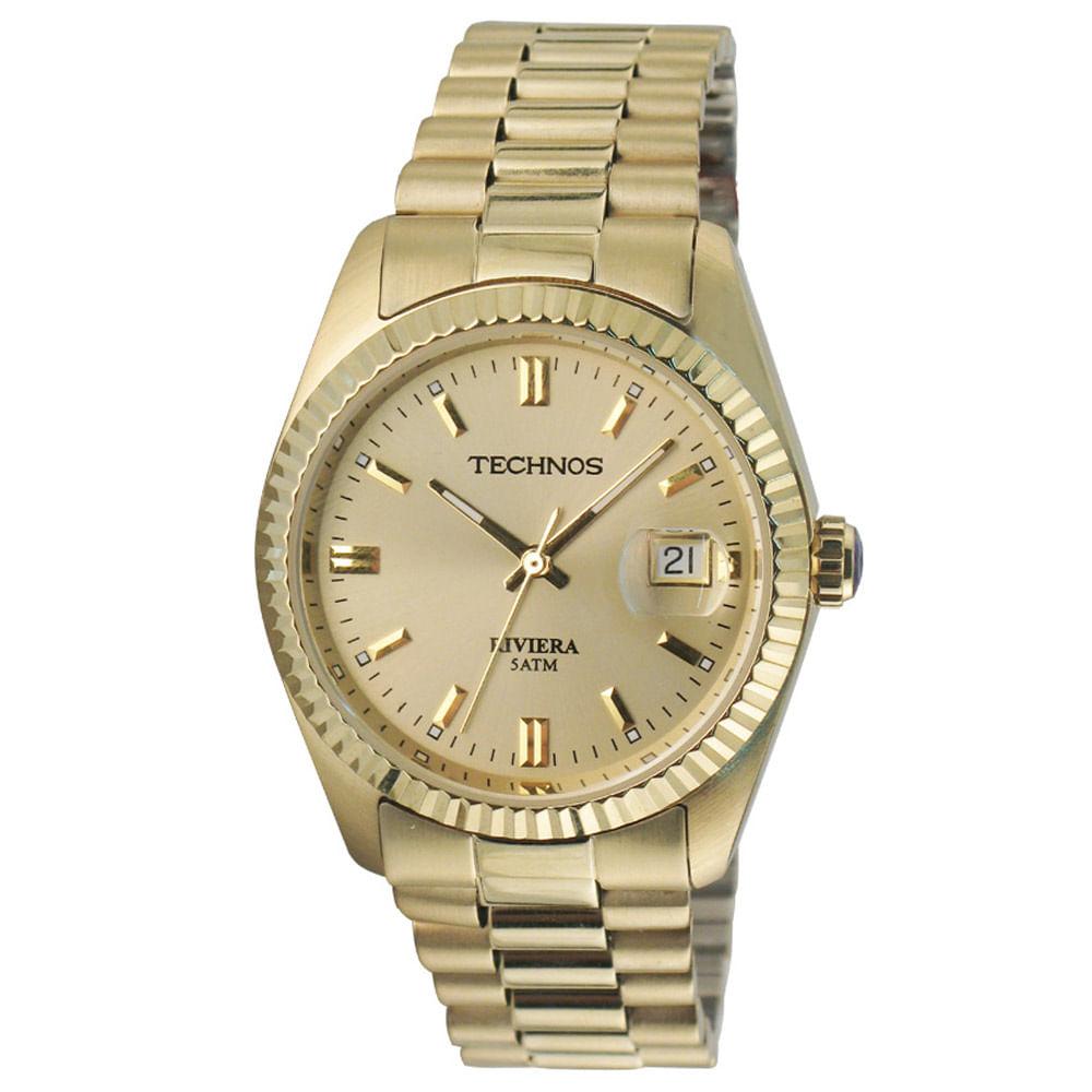 Relógio Technos Feminino Dourado - 2115EF 4X - timecenter 835fd9efb9