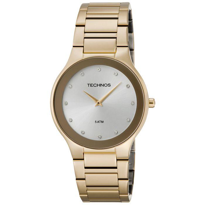 8046f94cfcd0f Relógio Technos Feminino Dourado - 1L22EN 4K - technos