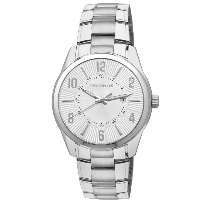 Relógio Technos Masculino Prata - 2115GY 1K - technos 56d46fd141