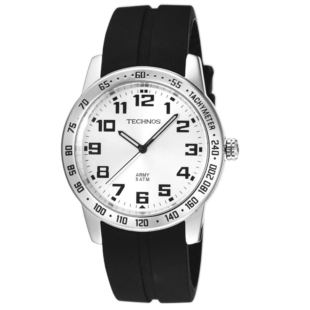 Relógio Technos Masculino Preto - 2035KF 8K - timecenter 4f0e50a74a