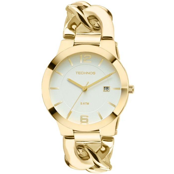 b74005f886a Relógio Technos Feminino Dourado - 2115UL 4B - technos