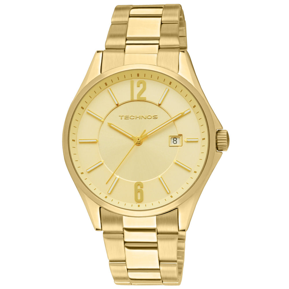 Relógio Technos Masculino Dourado - 2115TF 4X - timecenter a5466a7702