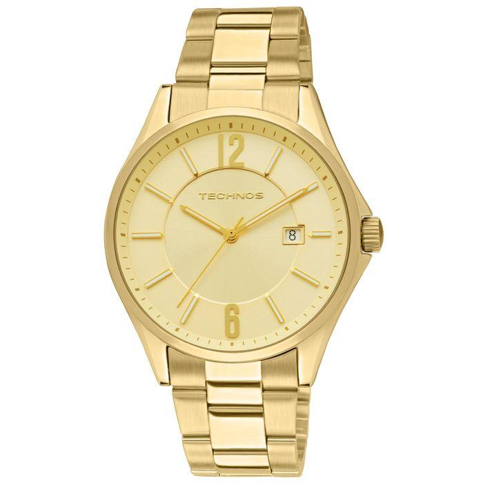 Relógio Technos Masculino Dourado - 2115TF 4X - technos b6d7a450cd