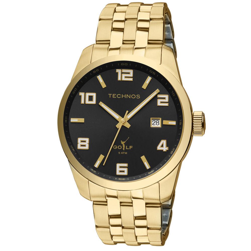 5bf7e9df123 Relógio Technos Masculino Dourado - 2315YJ 4P - timecenter