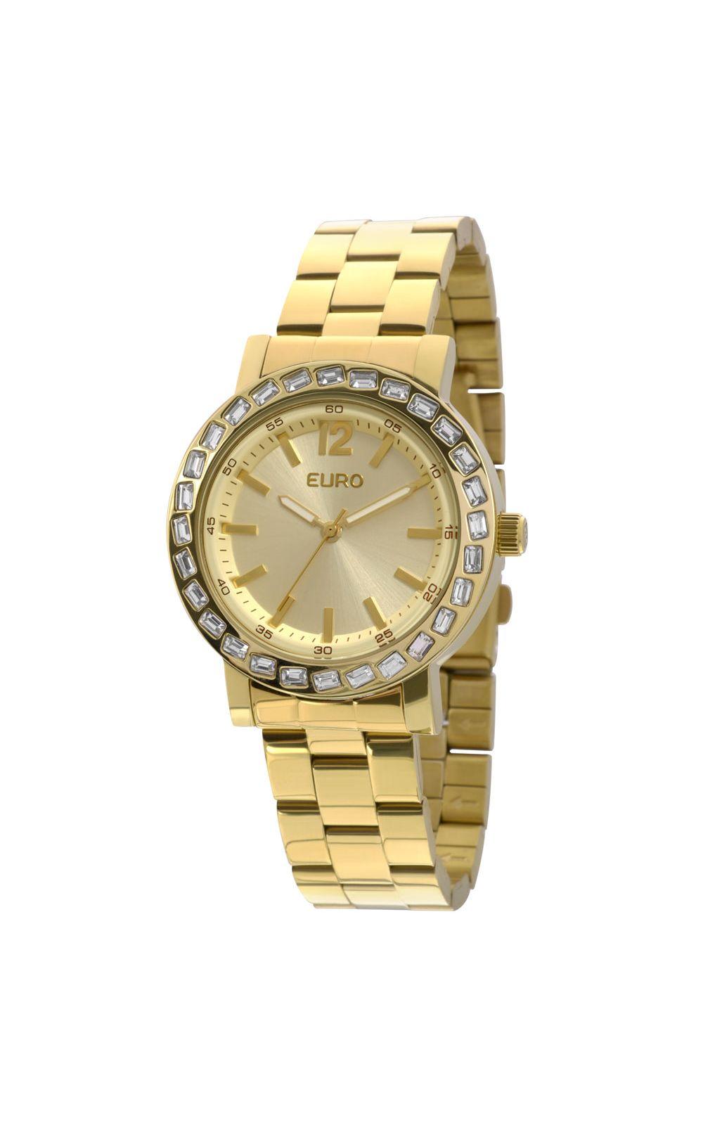 ae1fc71d249 Relógio Euro Feminino Brilho Assimétrico EU2035XYY 4X-Dourado. undefined