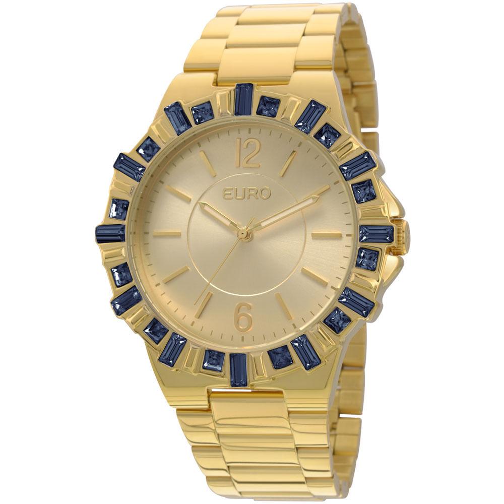 fb6940b9c98 EU2035XYM4A. EU2035XYM4A  EU2035XYM4A  EU2035XYM4A. Euro. Relógio Euro  Feminino Brilho Assimétrico EU2035XYM 4A-Dourado