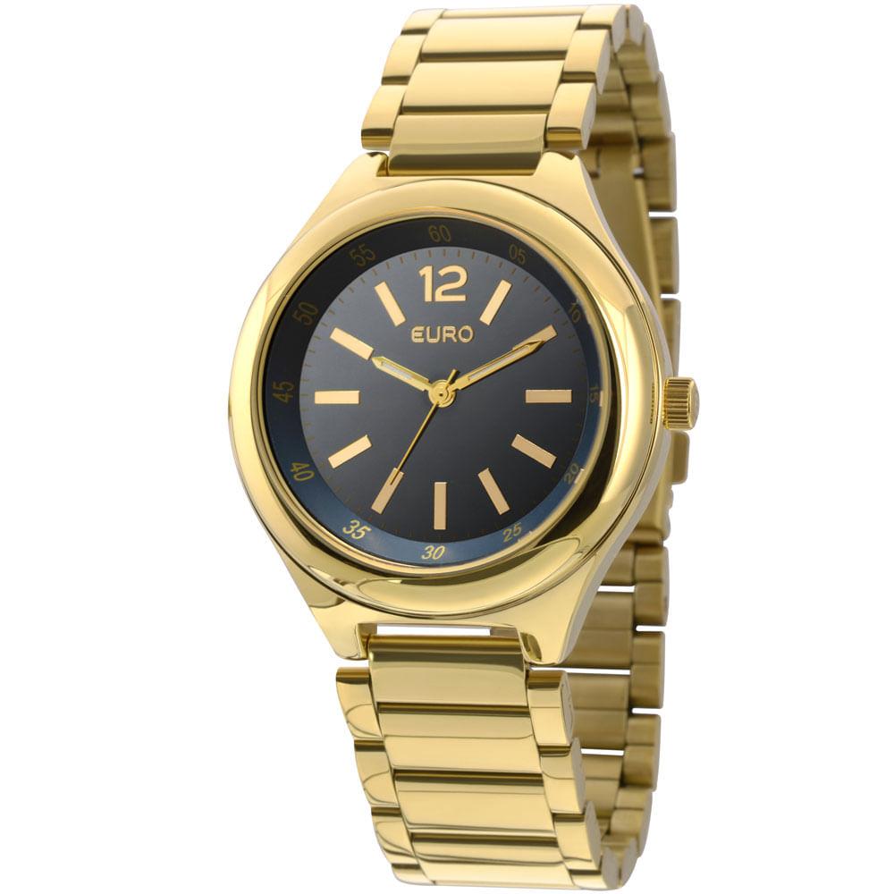 c5d7f37a9c6 Relógio Euro Feminino Analógico Espelhado EU2035XYT 4A-Dourado ...