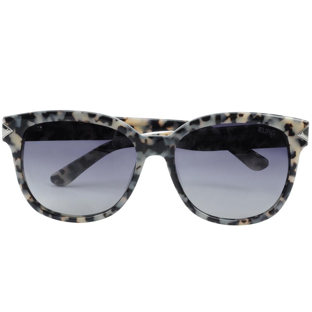 5b861c7158036 Óculos sol Euro Feminino marmorizado - OC016EU 2C - Tempo de Black ...