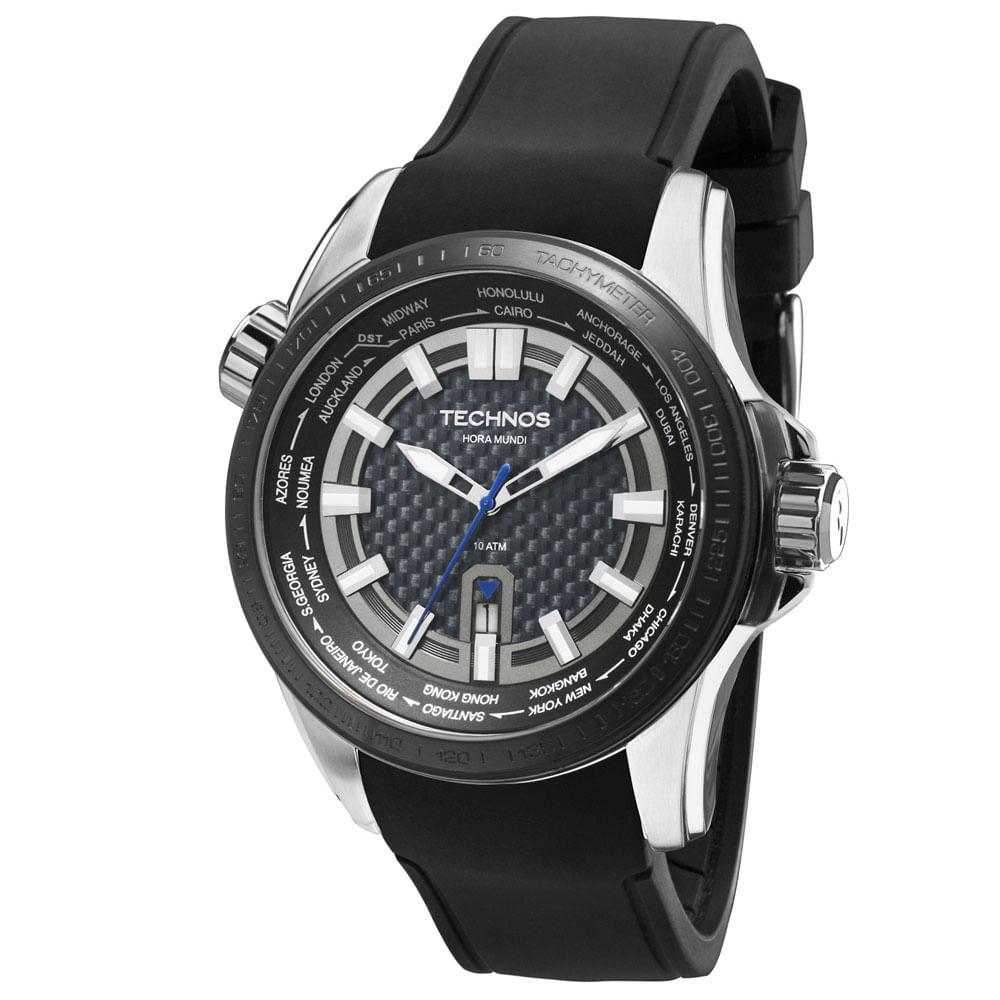 3659dc9a0a8 Relógio Technos Ts Carbon Masculino Analógico - 2115KNT 8K - timecenter