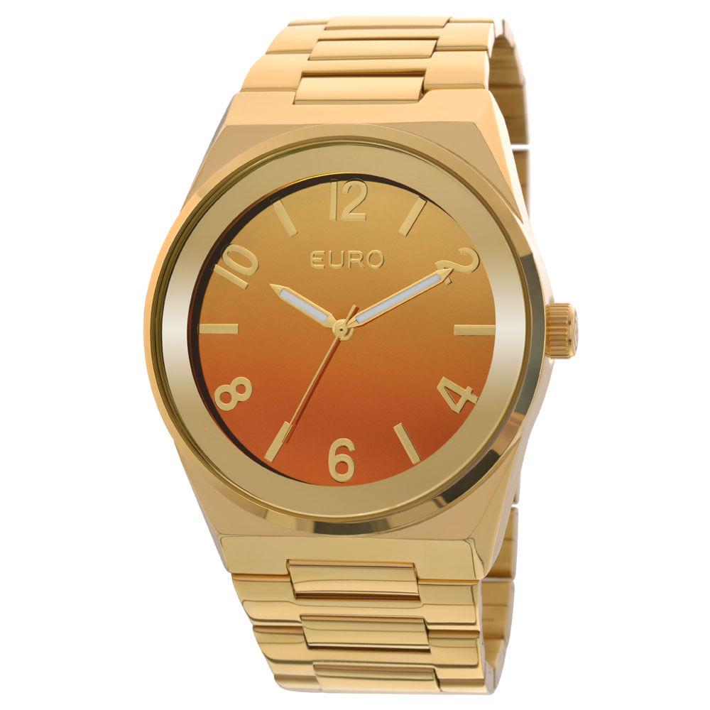 f9b131b7385 Relógio Euro Feminino Analógico Premium EU2035YAF 4L- Dourado ...