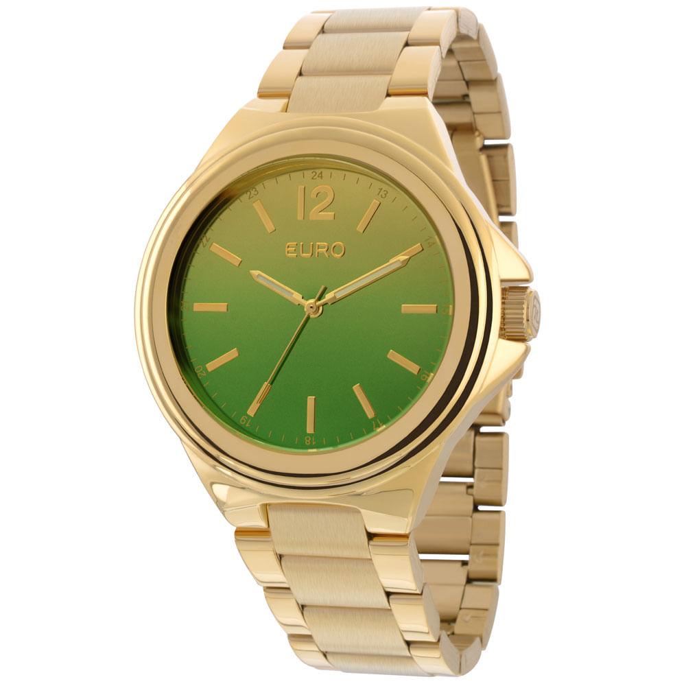 bb25fef7b6f Relógio Euro Feminino Analógico Premium EU2035YAH 4V-Dourado - Tempo ...