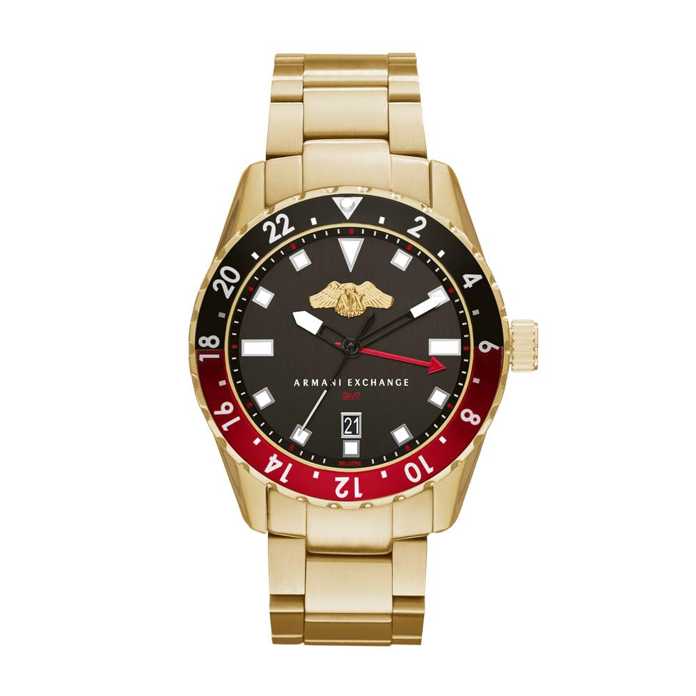 Relógio Armani Exchange Masculino Dourado - AX7007 4PN - timecenter 75f64ad761