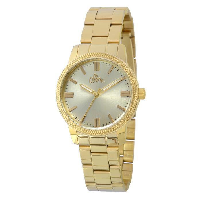 58fe582571 Relógio Allora Feminino Flor AL2036FGR K4M - Dourado - Tempo de ...