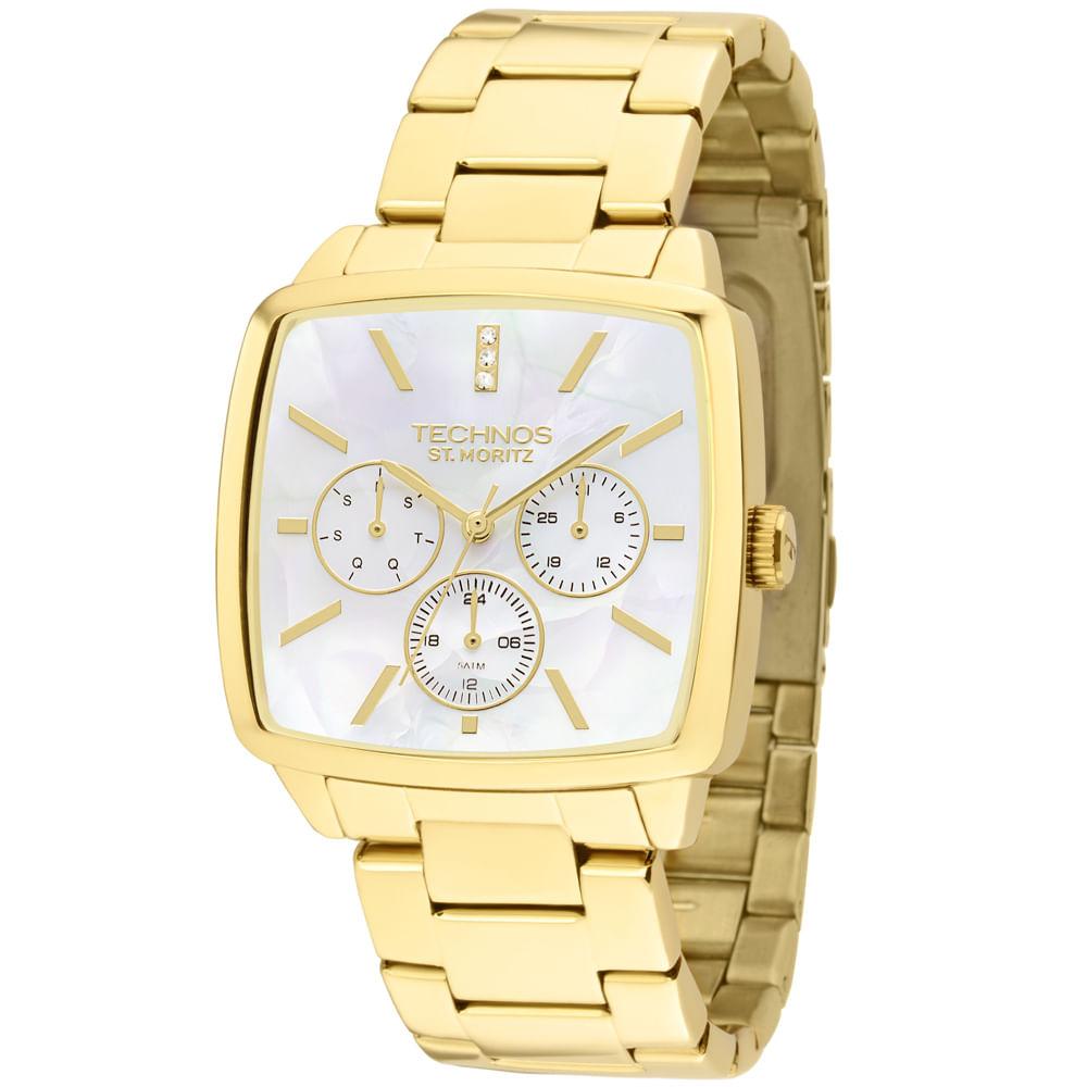 Relógio Technos Feminino Analógico Dourado 6P29AGU 4B - timecenter 3c9427167c
